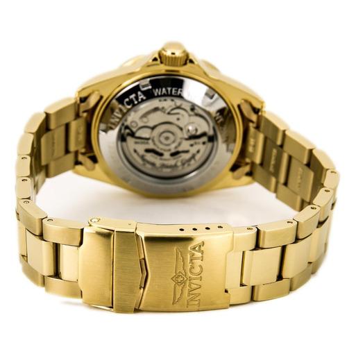 reloj automatico invicta pro diver 8930 enchapado oro 18k
