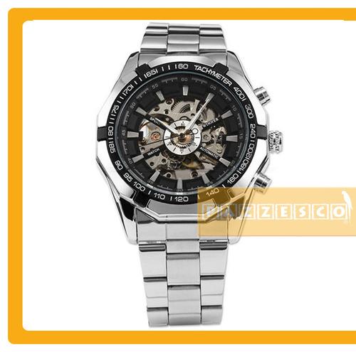 reloj automatico lujo mecanico skeleton steampunk cuerda