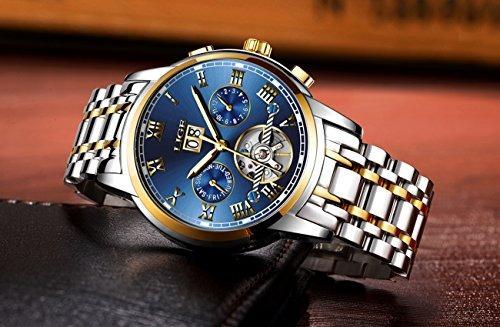 84af4865409d Reloj Automático Para Hombre De Acero Inoxidable