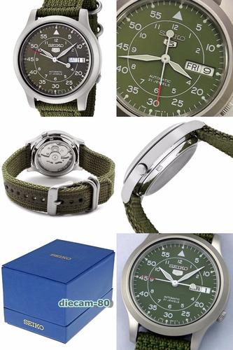 reloj automatico seiko 5 militar snk805 garantia x 12 meses