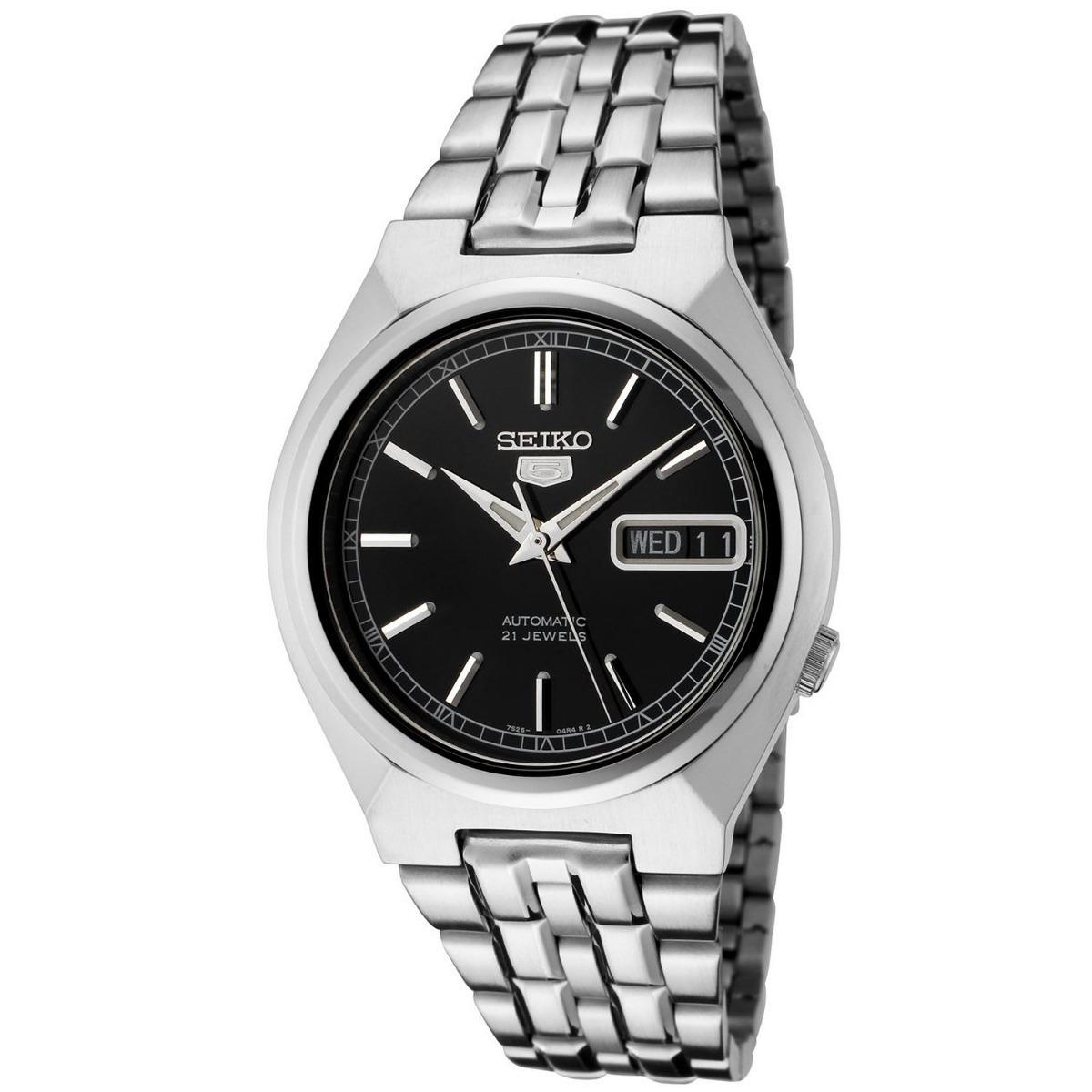 935a51c92764 reloj automatico seiko 5 snk307 hombre acero 21 jewels. Cargando zoom.