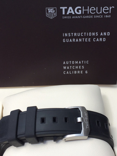 reloj automático tag heuer titanium 10/10 caja y manuales