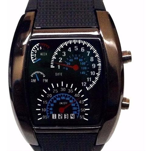 reloj aviador led tipo velocimetro