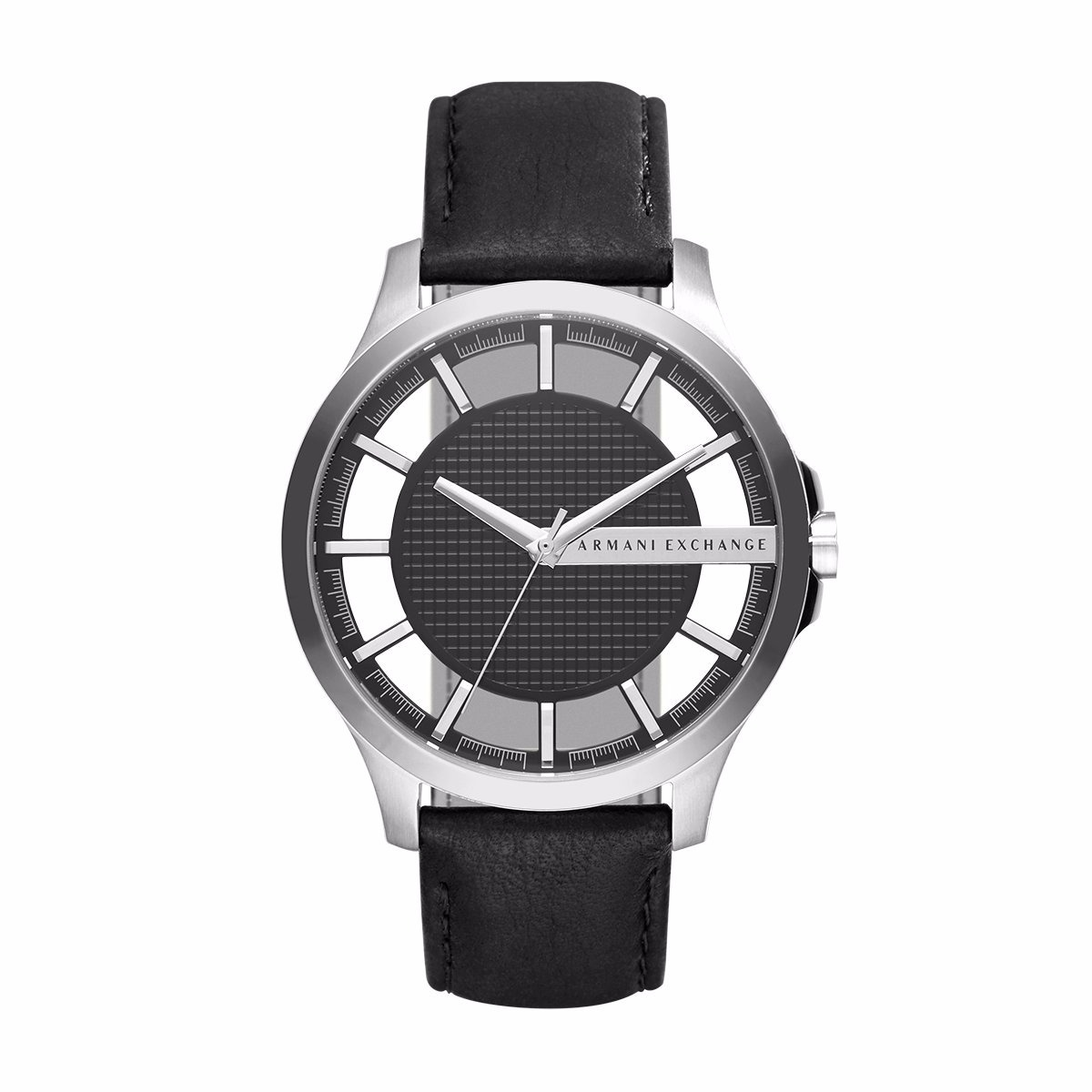 e1a3d4234115 reloj ax ax2186 piel negro plata 100%original para caballero. Cargando zoom.