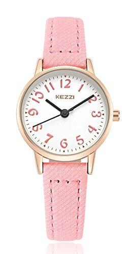 reloj baosaili fácil de leer con cuero para niñas