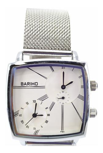 reloj bariho casual elegante malla metálica