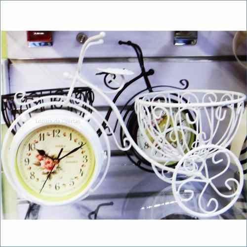 reloj bicicleta jardinera tipo antiguo escritorio decoración