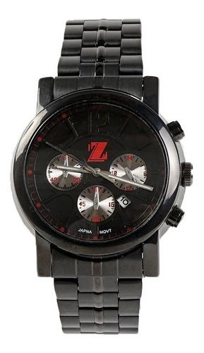 reloj billionz metal black & red