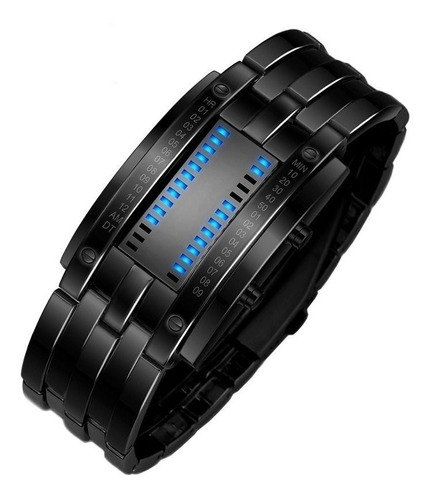 reloj binario led samuray deportivo + caja regalo 2 colores