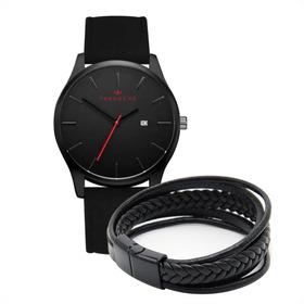 Reloj Black + Pulsera De Regalo, Promoción, Envío Gratis