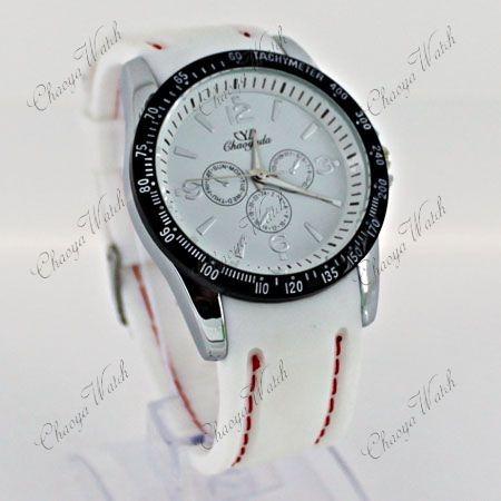 reloj blanco y negro