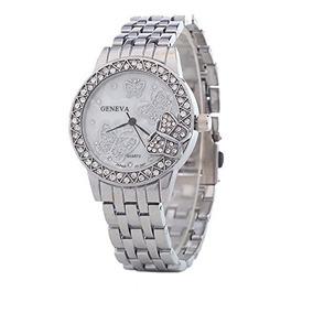 el más nuevo b94d5 a6f10 Reloj Bling Jewelry Stainless Steel Back Crystal Butterfly W