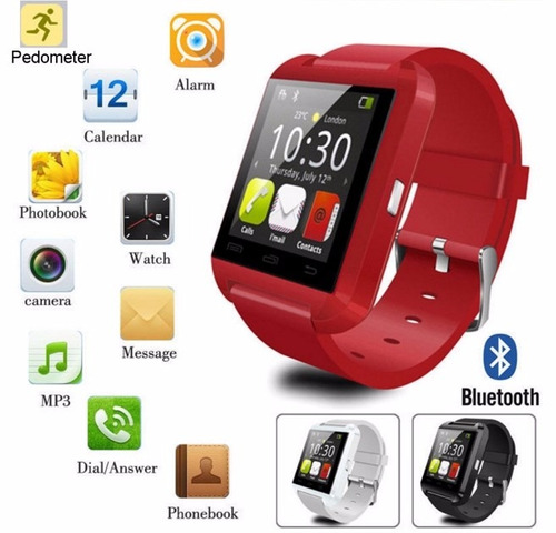 reloj bluetooth smartwatch u8 con caja de lujo