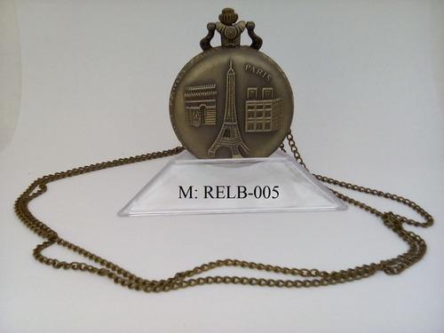 reloj bolsillo cuarzo est. antiguo t.eiffel relb-005