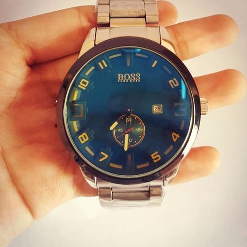 reloj boss acero inoxidable cronógrafo automatico