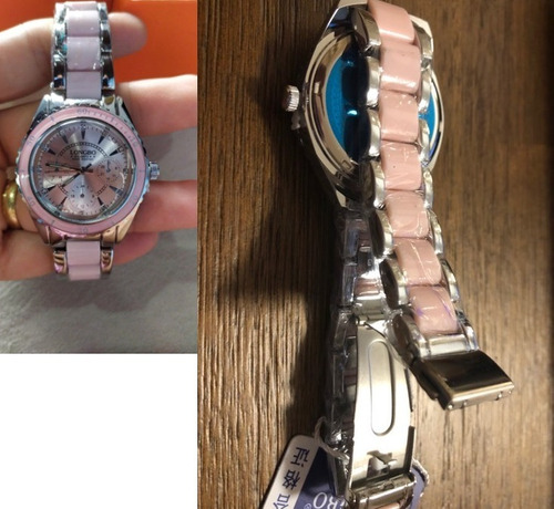 reloj brand pinkchic fashion watch quartz  #1 inoxidable