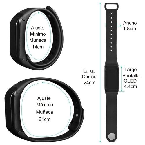 reloj brasalete inteligente monitor pulso presión oximetro