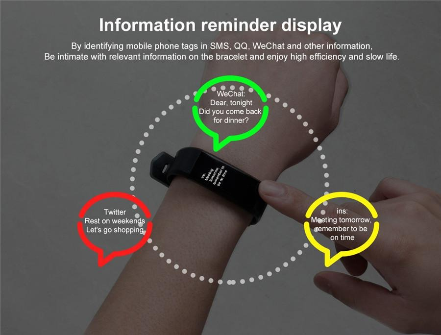 Reloj Brasalete Smart Band Your Health Steward
