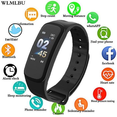 reloj brazalete inteligente m3 monitor ritmo cardiaco negro