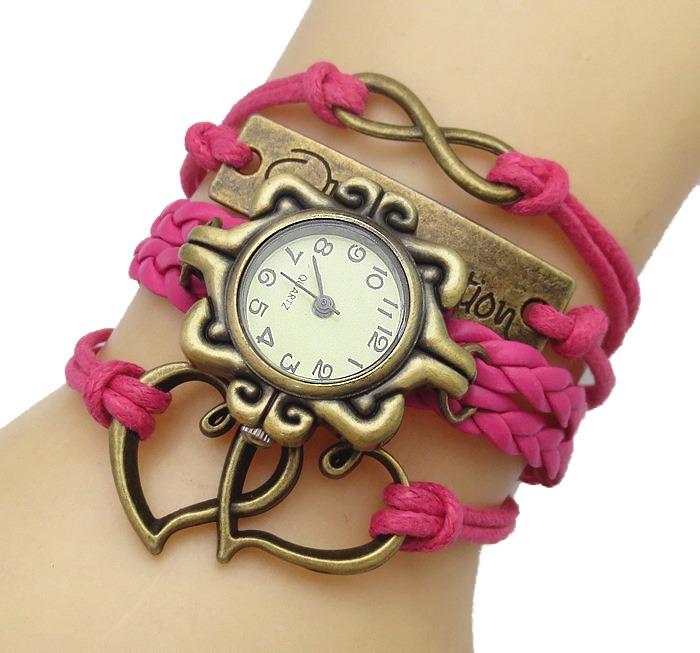 e1a13bcaf634 Reloj Brazalete Mujer Cristal Gamuza Moda Dama Corazon A367 ...