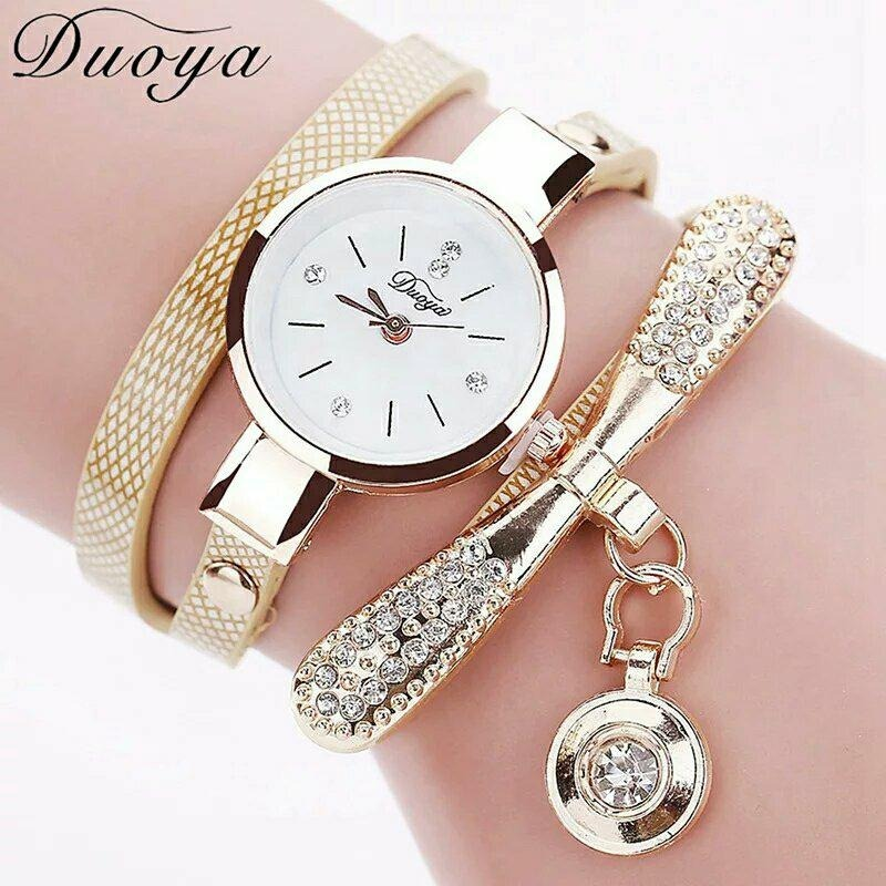004fc180e840 Reloj Brazalete Mujer Moda Casual Elegante Beige Dorado -   259.00 ...