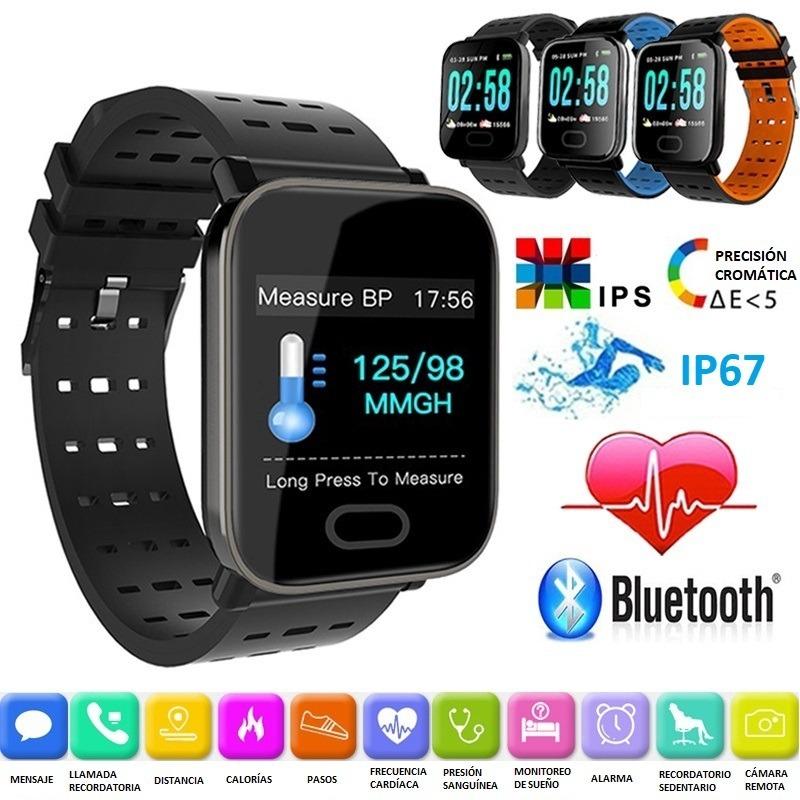 Brazalete Reloj Android Celular A6 Bluetooth Ios Smartwatch Yb6gyf7