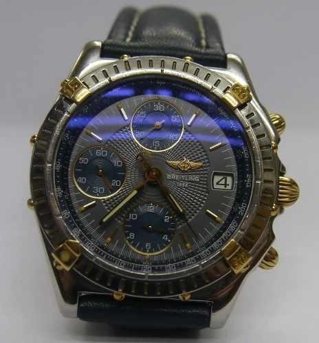 reloj breitling cronografo automatic acero oro macizo 18k