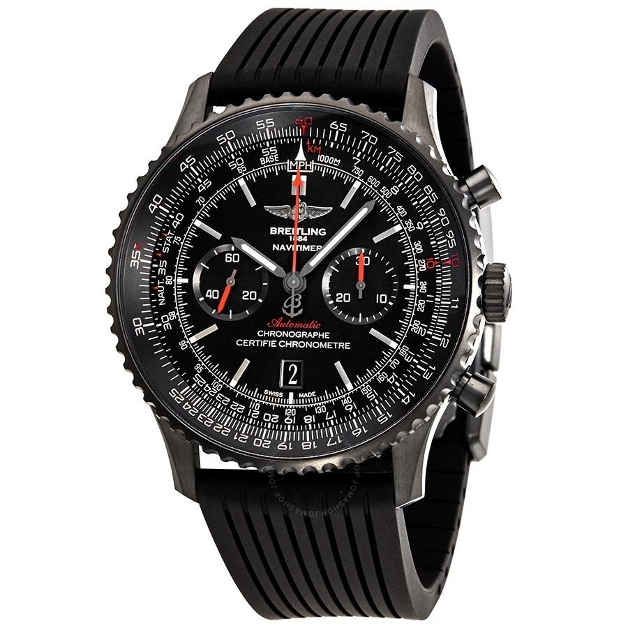 4419287a5a8f reloj breitling navitimer 01 black dial chronograph. Cargando zoom.