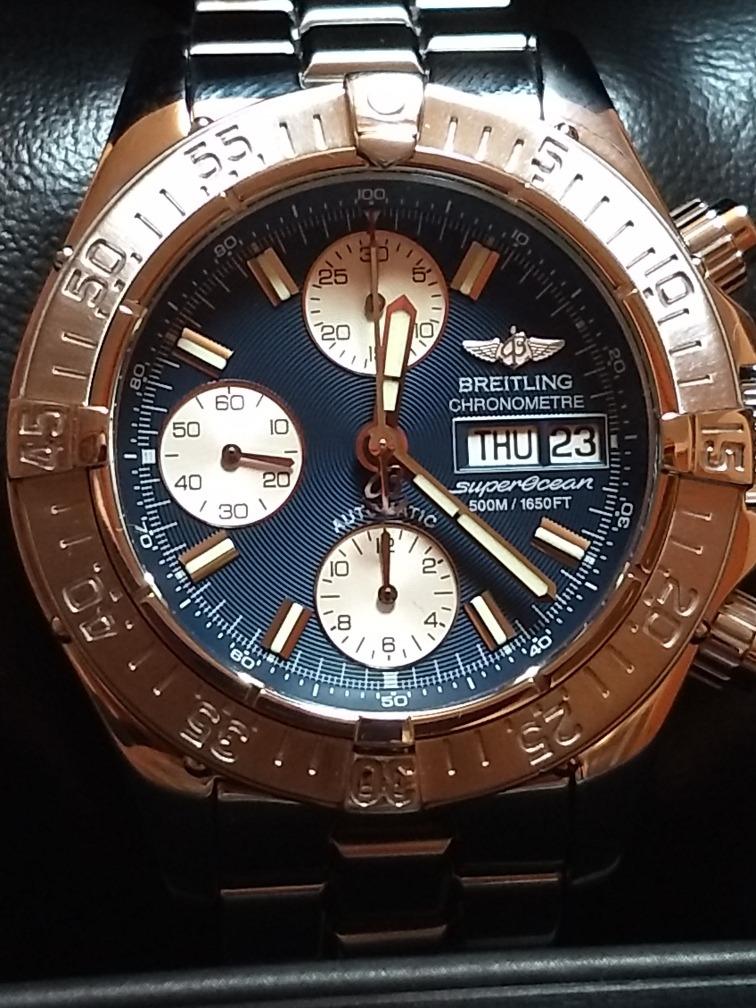 8734c353a8 reloj breitling super ocean cronómetro automático azul 42mm. Cargando zoom.