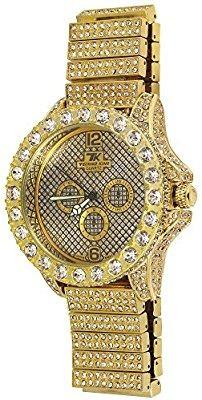 Artificiales Rap Brillante Hop Hip Diamantes Reloj Bling qc3L4j5ARS