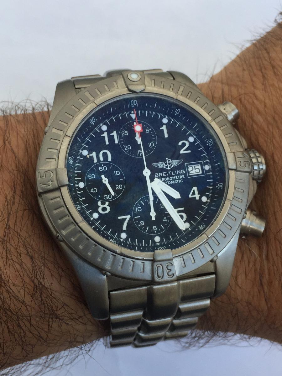 detailed look c75c8 e6911 Reloj Brreitling Avenger E13360 44 Mm Titanio Cronografo - $ 140.000,00