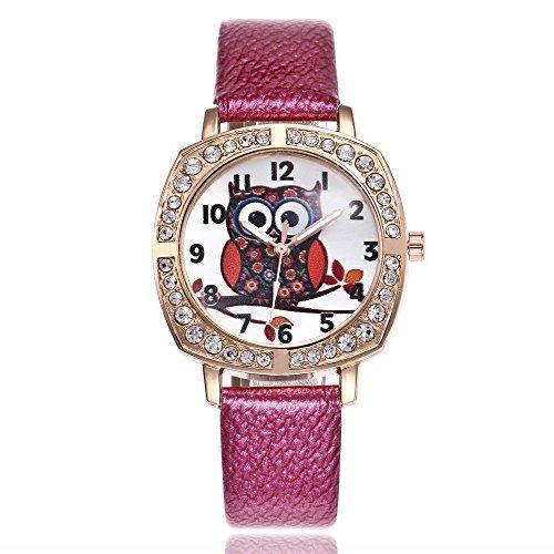 82d9c716f9f4 Reloj Búho Para Mujeres Reloj De Cuarzo Rhiestone Dial Redo ...