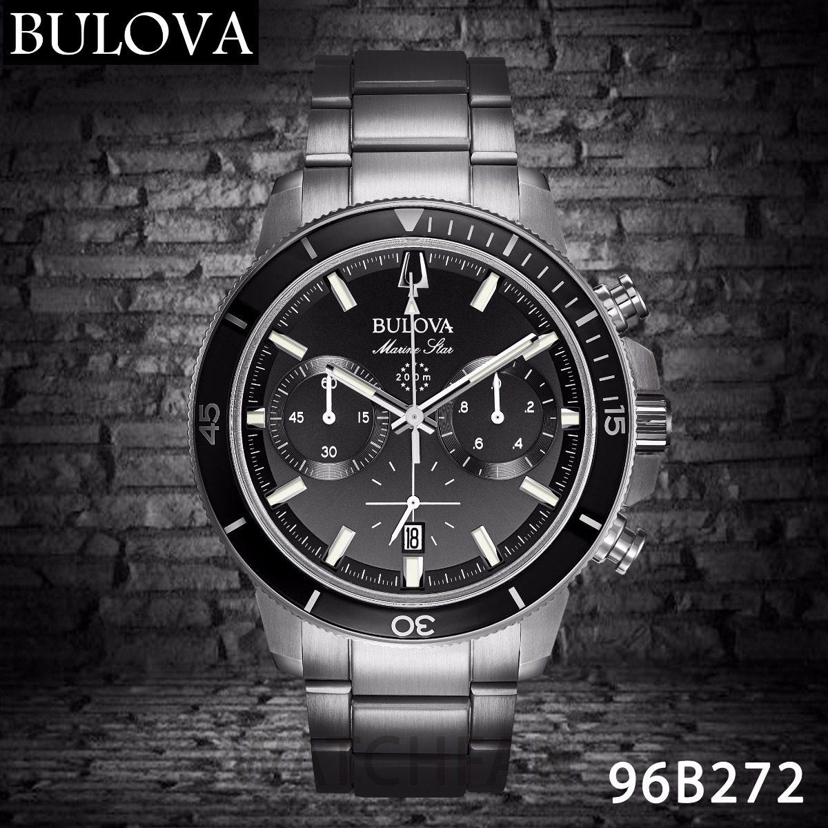 Reloj Bulova 96b272 Cronografo Marine Star Black 200m Wr - $ 28.495 ...