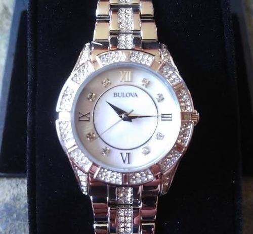 reloj bulova 96l116 dama cristales swarovski