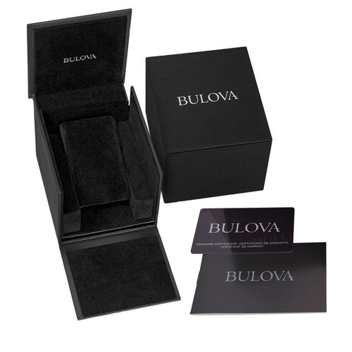 reloj bulova  97y01 original 30mm para dama diamante