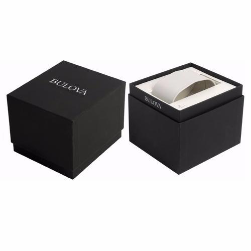 reloj bulova corporate para dama de piel negra 30mm 97v25