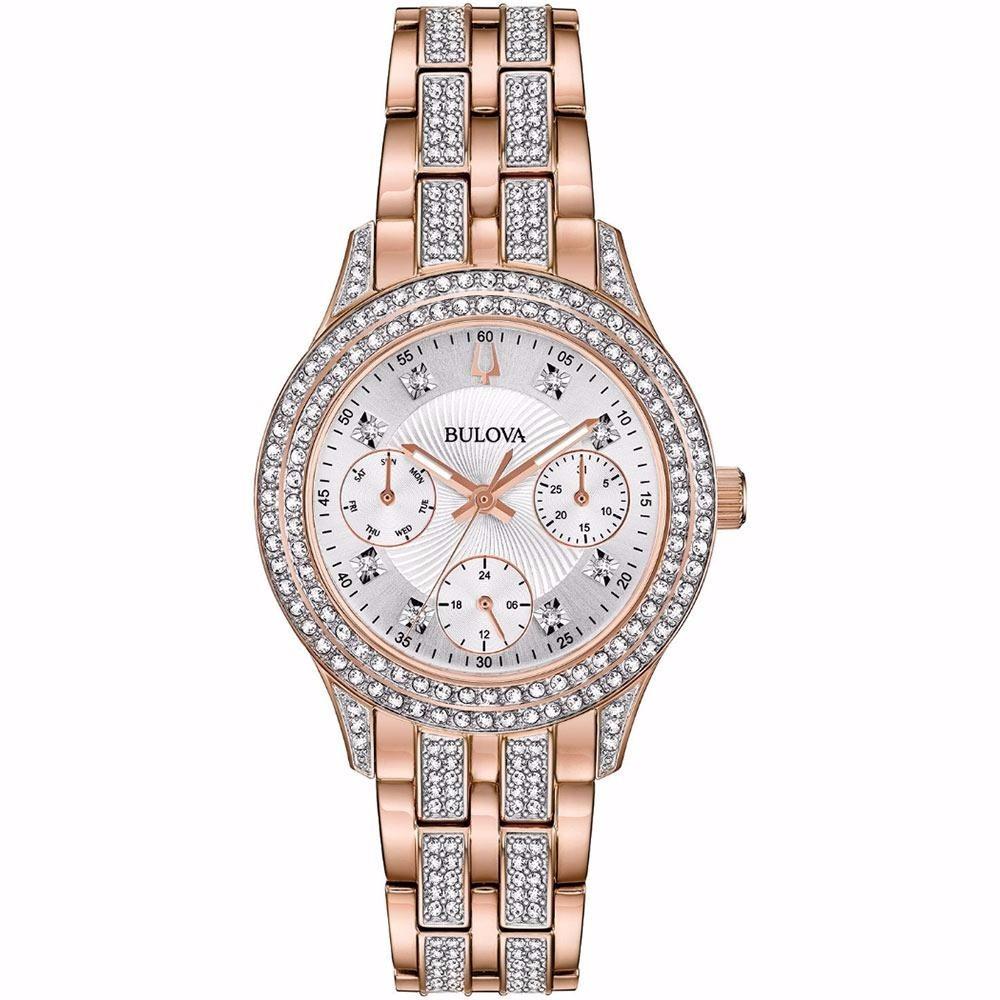 90b2ac438 reloj bulova crystal swarovski original para mujer 98n113. Cargando zoom.