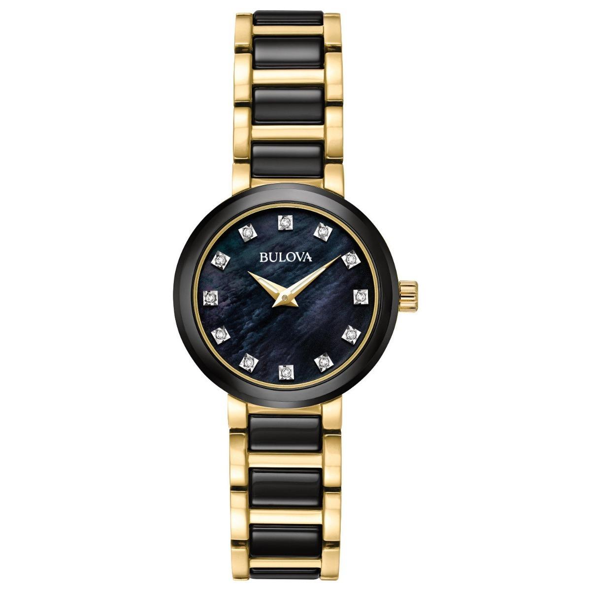 34064277c reloj bulova diamante para mujer de cuarzo acero inoxidable. Cargando zoom.