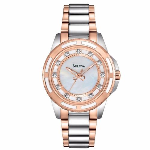 reloj bulova diamond 98p134