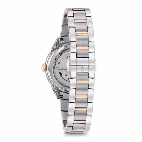 reloj bulova diamond automatic open heart 98p170