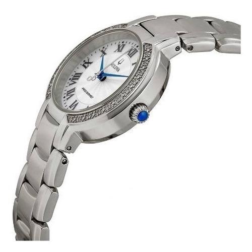 reloj bulova diamond precisionist 96r167 mujer   original