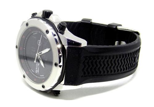 reloj bulova marine star 100 metros digital y análogo $5700