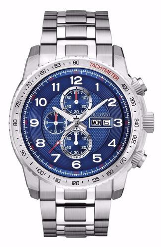 reloj bulova marine star acero cronógrafo hombre 96c121