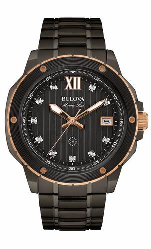 reloj bulova marine star acero inoxidable hombre 98d128