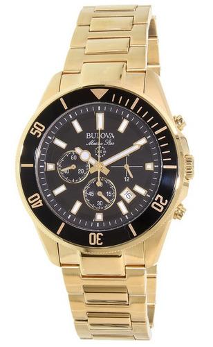 reloj bulova marine star dorado cronógrafo hombre 98b250