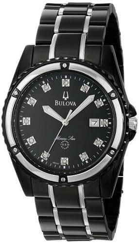 reloj bulova  negro masculino