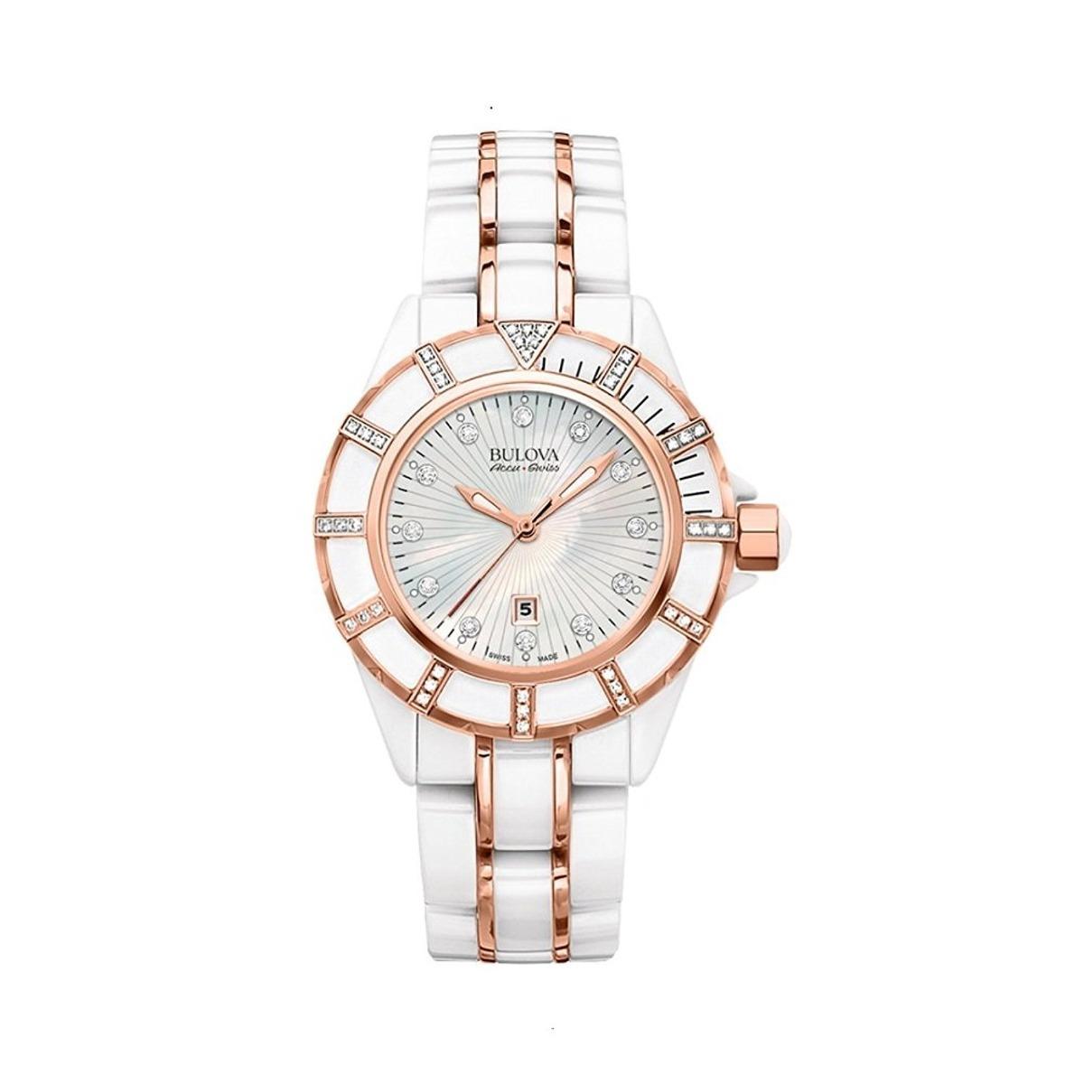 8337e14e6 reloj bulova para mujer 65r155 con cristales de cerámica. Cargando zoom.