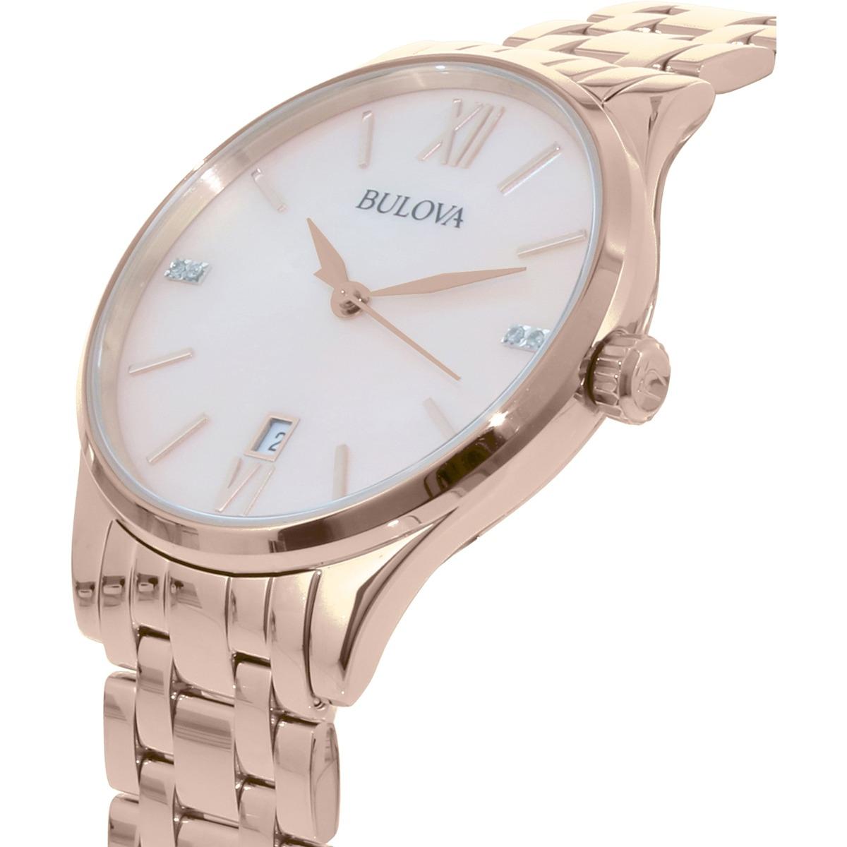 c96f31cf2 Reloj Bulova Para Mujer Oro Rosa Acero Inoxidable Cuarzo -   792.550 ...