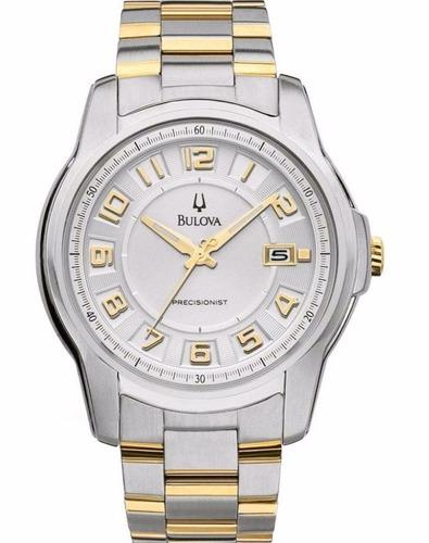reloj bulova precisionist acero 2 tonos hombre 98b140