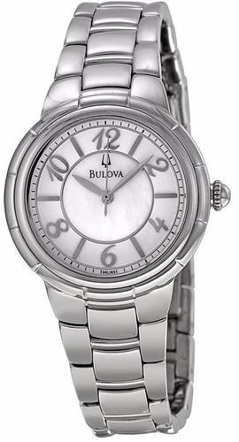 reloj bulova rosedale acero mujer concha blanco 96l169
